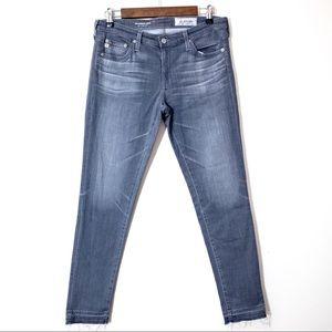 AG Jeans Size 8 Super Skinny Legging Ankle Gray